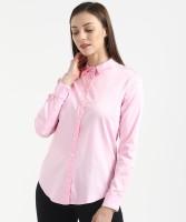 Marks & Spencer Women's Solid Formal Pink Shirt