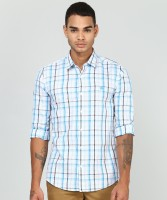 Peter England University Men Checkered Casual Multicolor Shirt