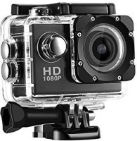 Mezire Action Shot Full HD 1080p 12mp Action Camera HD 1080p 12mp WaterProof Action Camera best quality Sports and Action Camera  (Black 12 MP) Sports and Action Camera(Black, 12 MP)
