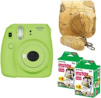 Fujifilm Mini 9 Lime Green With Map Case & 40 Shots Instant Camera(Green)