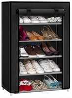 CMerchants STORAGE CABINET 5L5 Metal Collapsible Shoe Stand(Black, 5 Shelves)