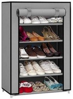 CMerchants STORAGE CABINET 5L3 Metal Collapsible Shoe Stand(Grey, 5 Shelves)