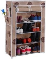 CMerchants STORAGE CABINET 5L6 Metal Collapsible Shoe Stand(Beige, 5 Shelves)