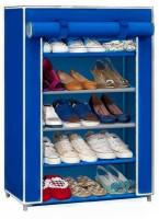 CMerchants STORAGE CABINET 5L4 Metal Collapsible Shoe Stand(Blue, 5 Shelves)