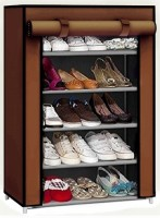 CMerchants STORAGE CABINET 5L1 Metal Collapsible Shoe Stand(Brown, 5 Shelves)
