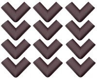 Royalkart Baby Child Infant Proofing Soft and Thick Baby Safety L Shaped Corner Guards Edge Protectors - with Special Adhesive Tape (Pack of 12)(Brown)