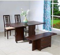 @home by Nilkamal Gypsy Engineered Wood 4 Seater Dining Set(Finish Color - Dark Walnut)