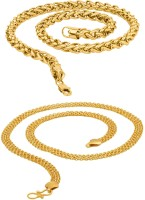 Fashion Frill Fashion Frill trendy and fancy exclusive design neck chain for men and boys combo pack Metal Chain