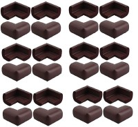 Royalkart Baby Child Infant Proofing Soft and Thick Baby Safety L Shaped Corner Guards Edge Protectors - with Special Adhesive Tape (Pack of 24)(Brown)