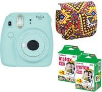 FUJIFILM Mini 9 Ice Blue With Bohemia Case 40 Shots Instant Camera(Blue)