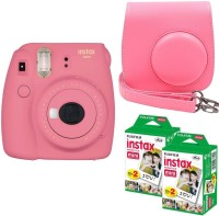 FUJIFILM Mini 9 Flamingo pink With Case and 40 Shots Instant Camera(Pink)