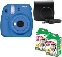 FUJIFILM Mini 9 Cobalt Blue with black Case and 40 Shots Instant Camera(Blue)