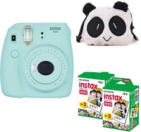 Fujifilm Mini 9 Ice Blue with panda Case and 40 Shots Instant Camera(Blue)