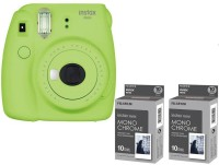 FUJIFILM Mini 9 Lime Green with 2 monochrome film ( 20 Shots ) Instant Camera(Green)