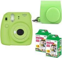 FUJIFILM Mini 9 Lime Green with Case and 40 Shots Instant Camera(Green)
