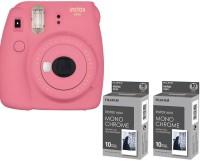 FUJIFILM Mini 9 Flamingo Pink with The 2 monochrome film ( 20 Shots ) Instant Camera(Pink)
