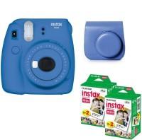 FUJIFILM Mini 9 Cobalt Blue With blue Case 40 Shots Instant Camera(Blue)