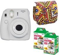 FUJIFILM Mini 9 Smokey White With Bohemia Case & 40 shots Instant Camera(White)