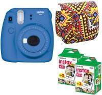 FUJIFILM Mini 9 Cobalt Blue with Bohemia Case 40 Shots Instant Camera(Blue)