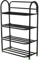 Raj Heavy Duty 4 Shelfs Metal Shoe Stand(Black, 4 Shelves)
