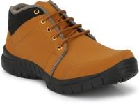 Venetien Venetien casual trendy stylish ultra light weight ankle boots for men Boots For Men(Tan)