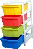 Everest aristo drawer Plastic Wall Shelf(Number of Shelves - 4, Multicolor)