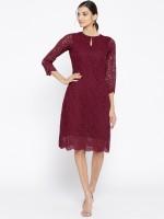 Athena Women Bodycon Brown Dress