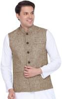 Vastraa Fusion Sleeveless Solid Men's Jacket