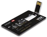 Tobo HSBC Visa 8GB Credit Card Style USB Flash Drive, Memory Stick Pen Drive.(Black) 8 Pen Drive(Black)