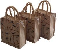 daniyal Natural jute bag set of 3 different size Waterproof Multipurpose Bag (Beige, 5 L) Waterproof Multipurpose Bag(Grey, 5 L)