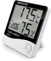 SellRider TETRAMETER CLOCK HTC Digital Hygrometer Humidity Meter with clock 1 Thermometer Thermometer(white and black)