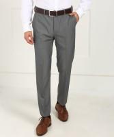Arrow Regular Fit Men Grey Trousers