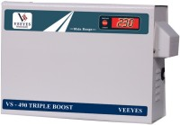 VEEYES VS 490D TRIPLE BOOSTER Voltage Stabilizer for Air conditioners upto 1.5 TN (Working Range : 90V - 300V)(Off White)