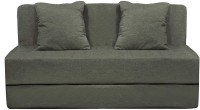 Style Crome Sofa Cum Bed Two Seater with Two Cushions- Perfect for Guests - Grey Color Single Sofa Bed(Finish Color - Grey Mechanism Type - Fold Out)