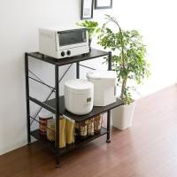 InnoFur Kinisi Storage Rack (Brown) Metal Kitchen Cabinet(Finish Color - Brown, DIY(Do-It-Yourself))