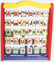 Nabhya Alphabet ABCD 1234 Learning 3D Frame(Multicolor)
