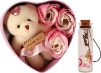 Lata Artificial Flower, Message Pills, Soft Toy Gift Set