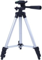 TSV Tripod-3110 Portable Adjustable Aluminum Lightweight Camera Stand Design For Apple phones Tripod(Silver, Supports Up to 1500 g)