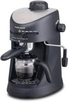 Morphy Richards New Europa Espresso/Cappuccino 4 Cups Coffee Maker(Black)