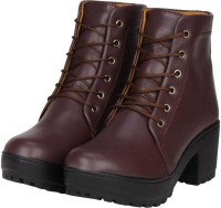 TOSHINA SHOES KING Women Casual Boots For Women(Burgundy)