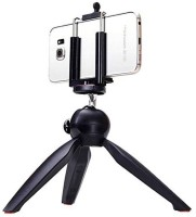 Poblic S2 Mini Universal Portable Y228 Tripod With 360° Rotating Ball Head With Mobile Clip For Digital Camera Compatible With All Android & IOS Devices Tripod(Black, Supports Up to 300)