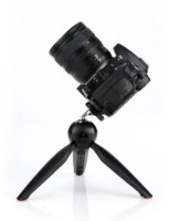 Poblic Mini Universal Portable Tripod With 360° Rotating Ball Head With Mobile Clip For Digital Camera Compatible With All Android & IOS Devices Tripod(Black, Supports Up to 300)