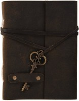 DI-KRAFT Handmade Classic Design Leather A5 Diary Unruled 200 Pages(Brown)