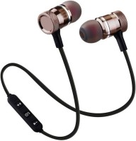 Syologix sports sound Magnetic-011 Bluetooth Headset with Mic(Black, In the Ear)