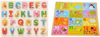 Nabhya Wooden ABCD & 1234 Learning Toys for Kids early learning Toys Pack Of 2 Trays ABCD And 1234(Multicolor)