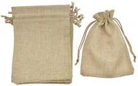 Lifekrafts Jute linen Potlis   Festival,Birthday & Party Favour Gift Bags for Return Gifts Bags   Pack of 10   Size 14 x 9.5cms   Jute Linen,Burlap   Natural Jute Color  Pouch(Brown)