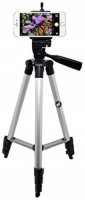 Tech-x 3110 Foldable Camera Mobile Tripod, Flexible Mount Stand-Black Tripod(Silver, Supports Up to 1000 g)