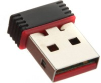 PIQANCY Wi-Fi Receiver 2.4GHz, USB 2.0 Wireless Mini Wi-Fi Network Adapter for Computers USB Adapter(Black)