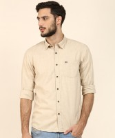 Arrow Sport Men Self Design Casual Beige Shirt