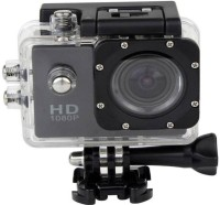 ALONZO Full HD 1080p 12mp 1080 Waterproof Ultra HD 2 inch LCD Display, HDMI Out, 170 Degree Wide Angle Sports and Action Camera(Black, 12 MP)